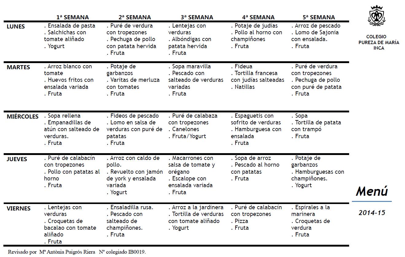 menu escolar 14-15